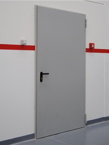 дверь металлическая двухстворчатая для электрощитовых